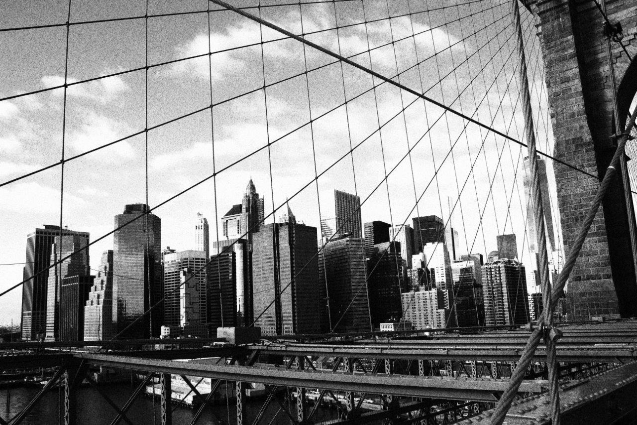 Vista de Manhattan desde el puente de Brooklyn